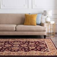 Hand-tufted Casa Plum Wool Area Rug - 8' x 10' Oval