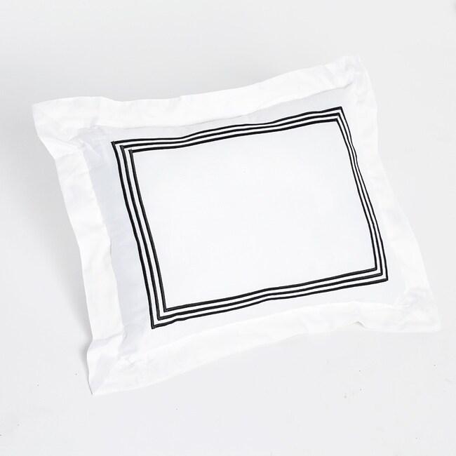 Barrato Black Striped Decorative Pillow