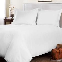 Roxbury Park Solid White Queen-size 3-piece Duvet Cover Set