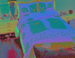 David and Goliath Pillow Talk Queen-size 3-piece Duvet Cover Set