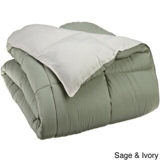 Superior All-season Luxurious Reversible Down Alternative Hypoallergenic Comforter