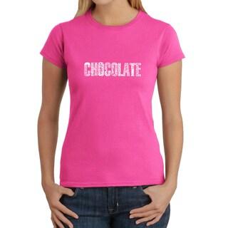 Los Angeles Pop Art Women's 'Chocolate' T-shirt