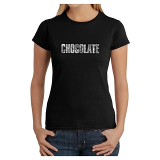 Los Angeles Pop Art Women's 'Chocolate' T-shirt