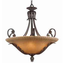 Vienna 6-light Weathered Bronze Pendant