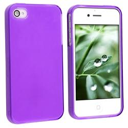 Frost Purple TPU Rubber Case for Apple iPhone 4 - Thumbnail 1