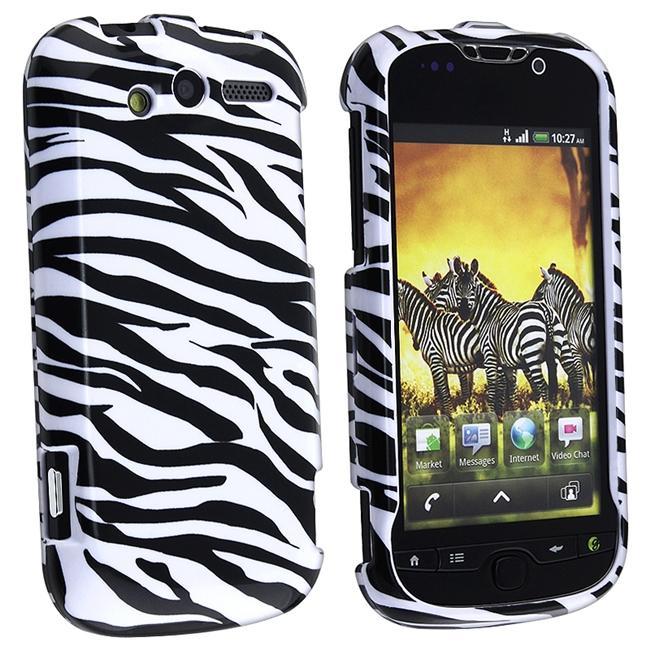 White/ Black Zebra Snap-on Case for HTC myTouch 4G