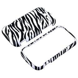 White/ Black Zebra Snap-on Case for HTC myTouch 4G - Thumbnail 1