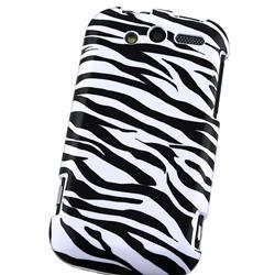 White/ Black Zebra Snap-on Case for HTC myTouch 4G - Thumbnail 2