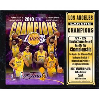 Encore Select 2010 NBA Champions LA Lakers Stat Plaque (12x15)