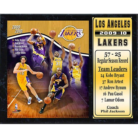 NBA 2009-10 LA Lakers Stats Plaque