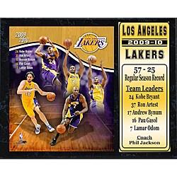 NBA 2009-10 LA Lakers Stats Plaque