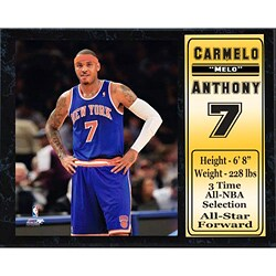 Encore Select New York Knicks Carmelo Anthony Plaque