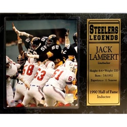 Encore Select Pittsburgh Steelers Jack Lambert Plaque (Option: Pittsburgh Steelers)
