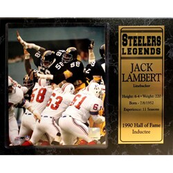 Encore Select Pittsburgh Steelers Jack Lambert Plaque