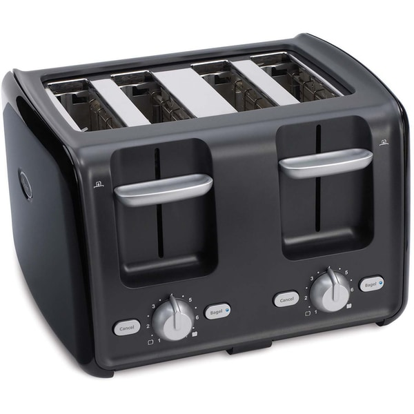 Shop Oster 4 Slice Black Retractable Cord Toaster Free