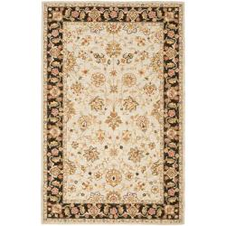 Safavieh Micro Hand-hooked Chelsea Kerman Light Blue/ Black Wool Rug - 8'9 X 11'9 - Thumbnail 0