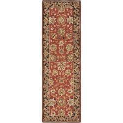 Safavieh Micro Hand-hooked Mirco Kerman Red Wool Runner (2'6 x 12')