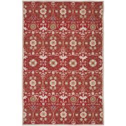 Safavieh Hand-hooked Chelsea Styles Red Wool Rug (5'3 x 8'3)