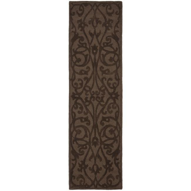 Safavieh Handmade Irongate Brown New Zealand Wool Runner (2'3 x 8')