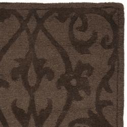Safavieh Handmade Irongate Brown New Zealand Wool Runner (2'3 x 8') - Thumbnail 1