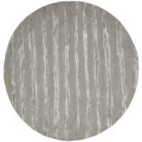 Safavieh Handmade Soho Stripes Grey New Zealand Wool Rug - 6' x 6' Round