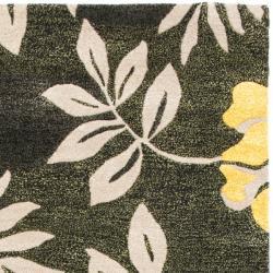 "Safavieh Handmade Soho Brown/Multi New Zealand Wool Rug with Canvas Backing (3'6"" x 5'6"") - Thumbnail 1"