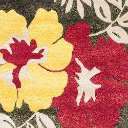 "Safavieh Handmade Soho Brown/Multi New Zealand Wool Rug with Canvas Backing (3'6"" x 5'6"") - Thumbnail 2"