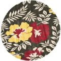 Safavieh Handmade Soho Thick-Pile Brown/Multi New Zealand Wool Rug - 6' x 6' Round
