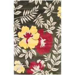 Safavieh Handmade Soho Brown/Multi New Zealand Wool Floral Rug - 7'6' x 9'6' - Thumbnail 0