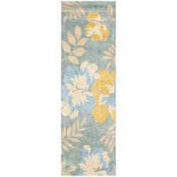 Safavieh Handmade Soho Blue/ Multi New Zealand Wool Runner (2'6 x 8')