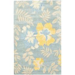 Safavieh Handmade Soho Blue/ Multi New Zealand Wool Rug (3'6 x 5'6')