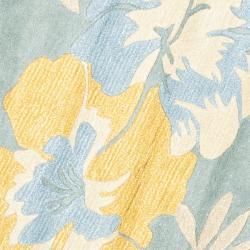 Safavieh Handmade Soho Blue/ Multi New Zealand Wool Rug (6' Round) - Thumbnail 2