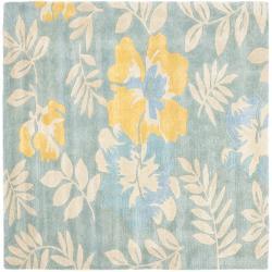 Safavieh Handmade Soho Blue/ Multi New Zealand Wool Rug (6' Square)