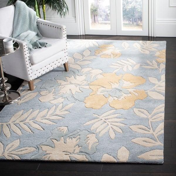 "Safavieh Handmade Soho Blue/ Multi New Zealand Wool Rug - 7'-6"" X 9'-6"""