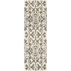 Safavieh Handmade Soho Ivory/ Grey New Zealand Wool Runner (2'6 x 8')