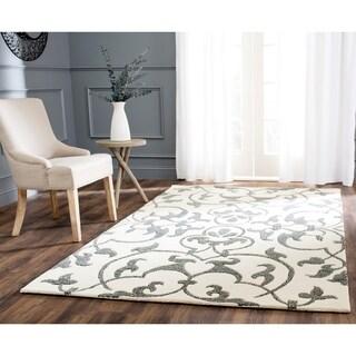 Safavieh Handmade Soho Ivory/ Grey New Zealand Wool Rug (5' x 8')