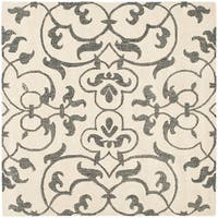 Safavieh Handmade Soho Ivory/ Grey New Zealand Wool Rug - 6' x 6' Square
