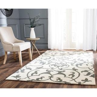 Safavieh Handmade Soho Ivory/ Grey New Zealand Wool Rug (7'6 x 9'6)