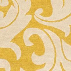 Safavieh Handmade Soho Gold/ Ivory New Zealand Wool Rug (3'6 x 5'6') - Thumbnail 2