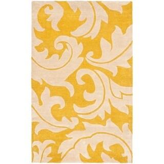 Safavieh Handmade Soho Gabina N.Z. Wool Rug (83 x 11 - Gold/Ivory)