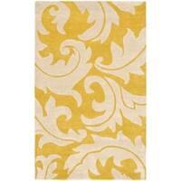 Safavieh Handmade Soho Gold/ Ivory New Zealand Wool Rug - 5' x 8'