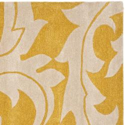 Safavieh Handmade Soho Gold/ Ivory New Zealand Wool Rug (6' Square) - Thumbnail 1