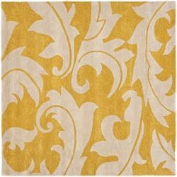 Safavieh Handmade Soho Gold/ Ivory New Zealand Wool Rug (6' Square)