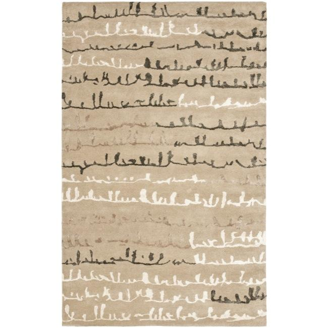 Safavieh Handmade Soho Beige/ Multi New Zealand Wool Rug (5' x 8')