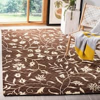 "Safavieh Handmade Soho Brown/ Ivory New Zealand Wool Rug - 7'6"" x 9'6"""