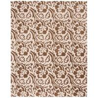 """Safavieh Handmade Contemporary Soho Brown/Ivory New Zealand Wool Rug with Cotton-Canvas Backing - 7'6"""" x 9'6"""""""