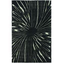 Safavieh Handmade Soho Black/ Green New Zealand Wool Rug - 7'6 x 9'6 - Thumbnail 0