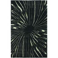 Safavieh Handmade Soho Black/ Green New Zealand Wool Rug (7'6 x 9'6) - 7'6 x 9'6