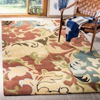 "Safavieh Handmade Soho Rust/ Multi New Zealand Wool Rug - 3'-6"" x 5'-6"""