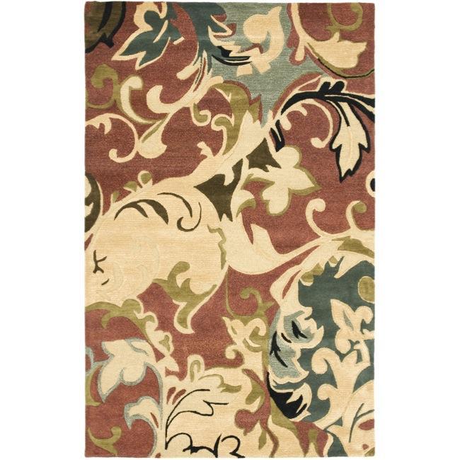 Safavieh Handmade Soho Rust/ Multi New Zealand Wool Rug - 5' x 8'